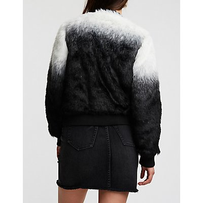 Ombre Bomber Jacket