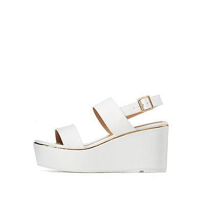 Two Strap Wedge Sandals