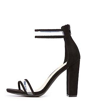 PVC Ankle Wrap Sandals