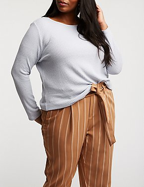 Plus Size Front Tie Top