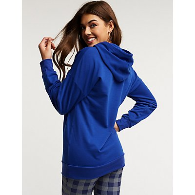 Hooded Tunic Sweatshirt
