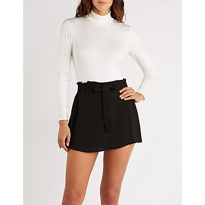 Paperbag Self Tie Skirt by Charlotte Russe