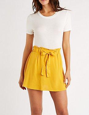 Paperbag Self Tie Skirt