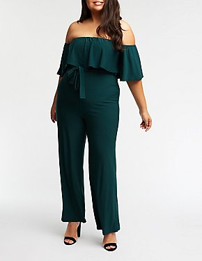 Plus Size Off The Shoulder Jumpsuit
