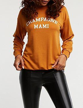 Champagne Mami Tunic Sweatshirt
