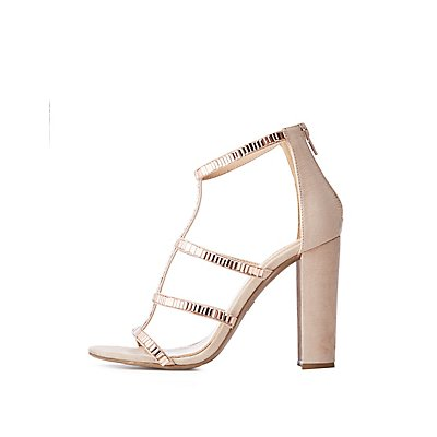 Crystal Caged Sandals