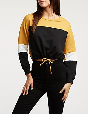 db4ff814875220 Casual Tops & Day Tops: Lace Up, Striped, & More | Charlotte Russe