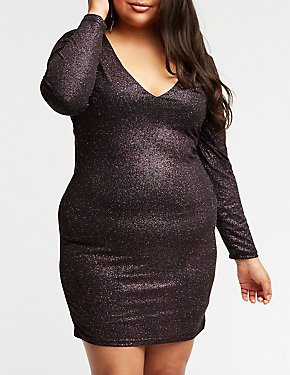 Plus Size Glitter Bodycon Dress