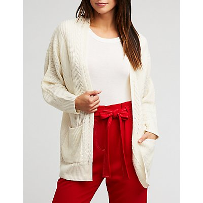 Cable Knit Longline Cardigan