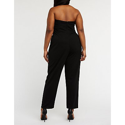Plus Size Lace Bodice Jumpsuit