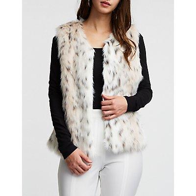 Faux Fur Leopard Vest