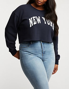 Plus Size New York Cropped Sweater