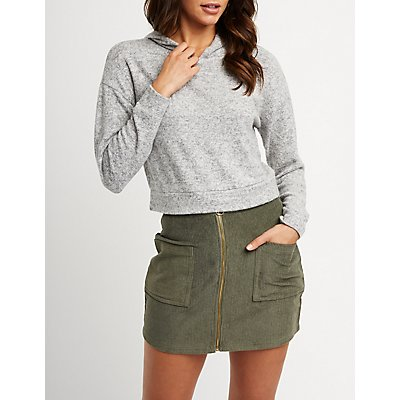 Crop Hoodie Sweatshirt