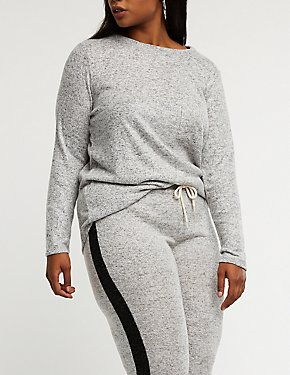 Plus Size Long Sleeve Knit Top