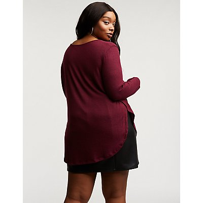 Plus Size Scoop Neck Tunic