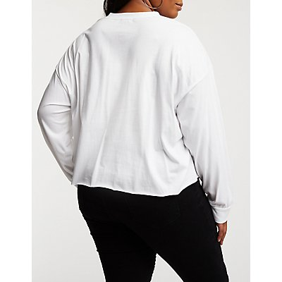 Plus Size Femme Cropped Tee