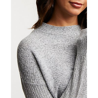 Mossy Ribbed Knit Tunic