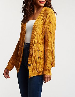 Cable Knit Oversize Cardigan