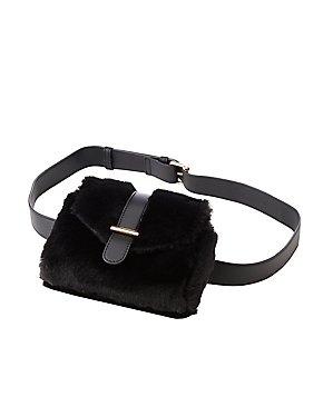 Faux Fur Adjustable Belt Bag