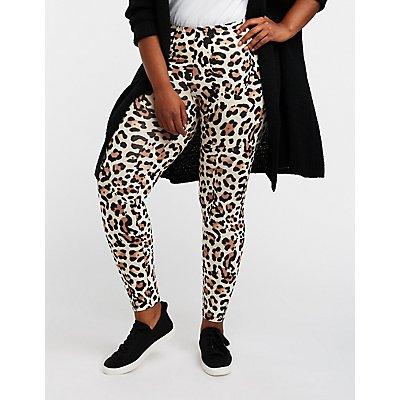 Plus Size Leopard Print Leggings