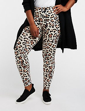 Plus Size Leopard Print Leggings