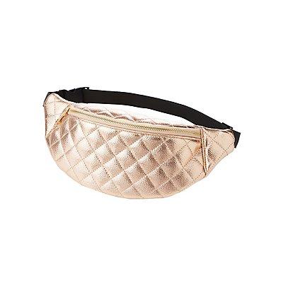 Metallic Quilted Belt Bag