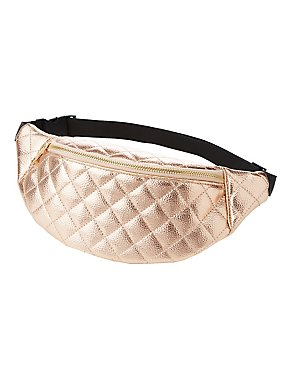 Metallic Quilted Belt Bag