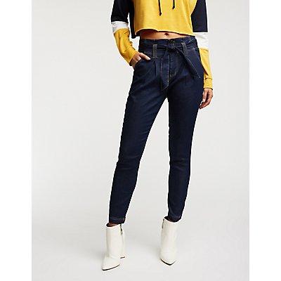 Paperbag Skinny Jeans