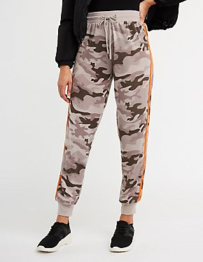 Side Stripe Camo Jogger Pants