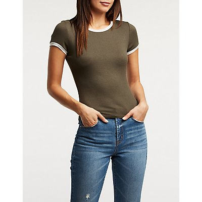 Ribbed Ringer Tee