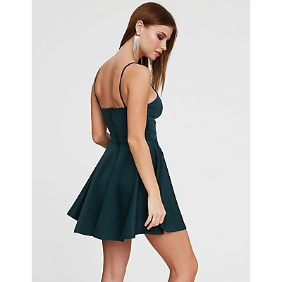 Notched Skater Dress
