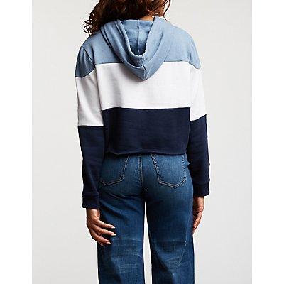 1986 Crop Hoodie Sweatshirt