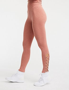 Ribbed Side Caged Leggings