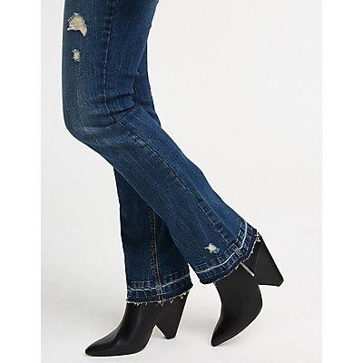 Refuge Destroyed Flared Jeans