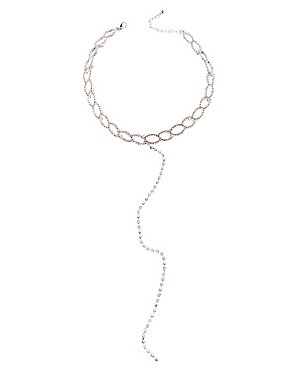 Linked Choker Lariat Necklace