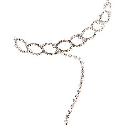 Linked Choker Lariat Necklace
