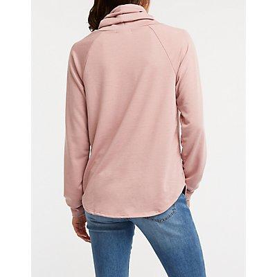 Cowl Neck Pullover Sweatshirt