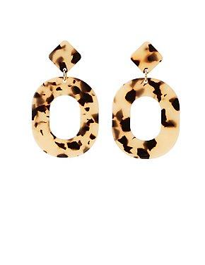 Tortoise Shell Drop Earrings