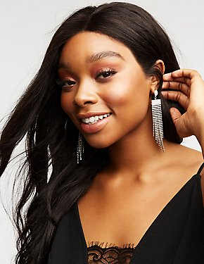 Crystal Cascading Statement Earrings