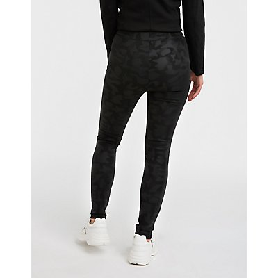 Camo Fleece Lined Leggings