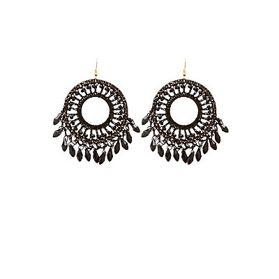 Beaded Disc Earrings