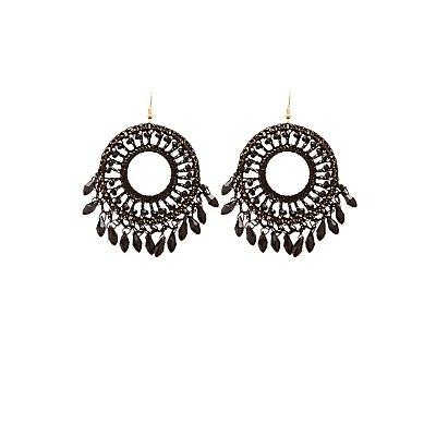 Beaded Disc Earrings