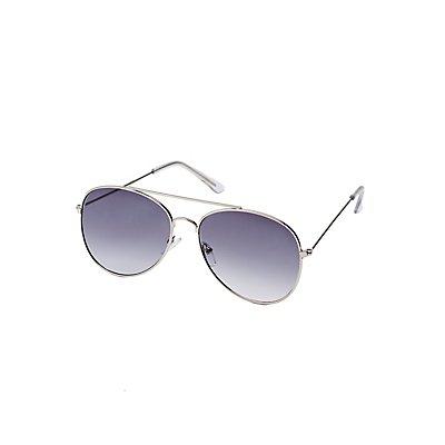 Curved Aviator Sunglasses