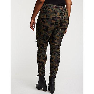 Plus Size Camo Jogger Pants