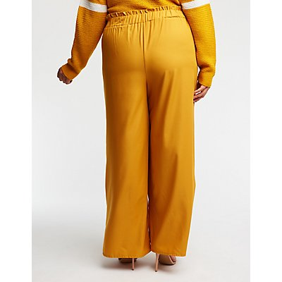 Plus Size Self Tie Trousers