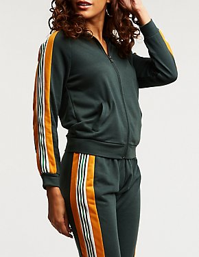 Colorblock Zip Up Track Jacket
