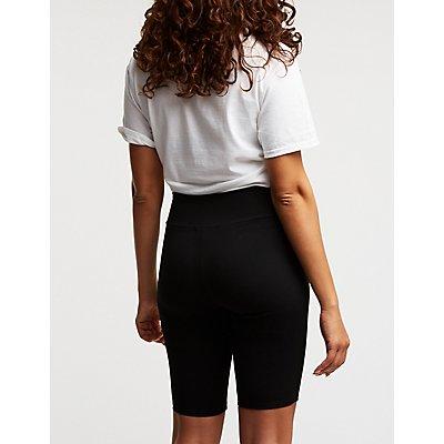 O Ring Zipper Bike Shorts
