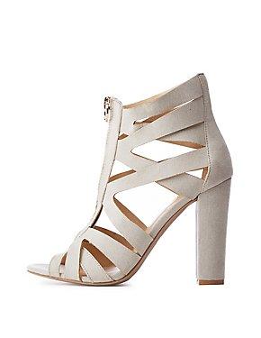 Caged Zip Up Sandals