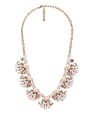 Beaded & Stoned Statement Necklace