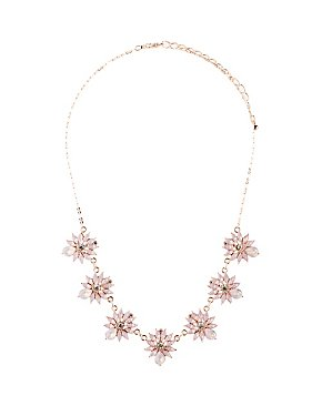 Floral Crystal Choker Necklace